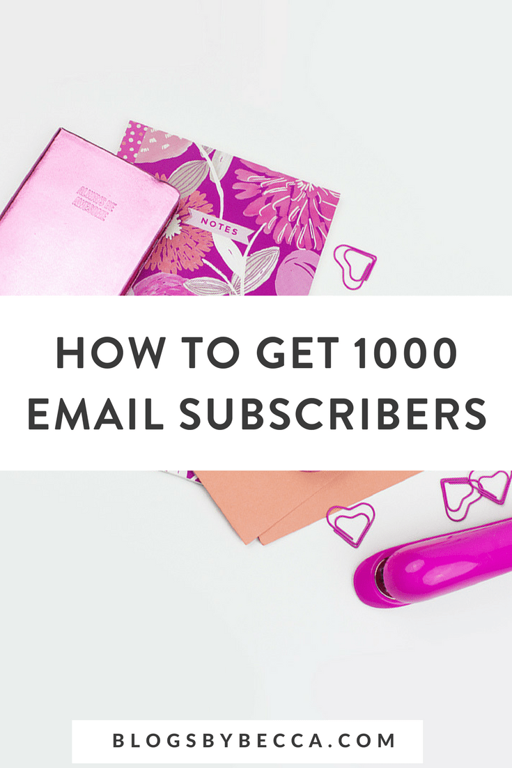 How to Get 1000 Subscribers in 5 Weeks