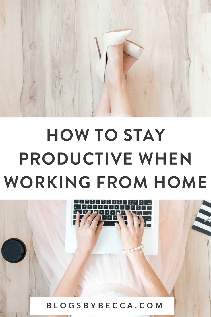 How to Stay Productive When Working From Home! Click for tips to stay productive while you work from home. #workfromhome, #productivity, #productivitytips