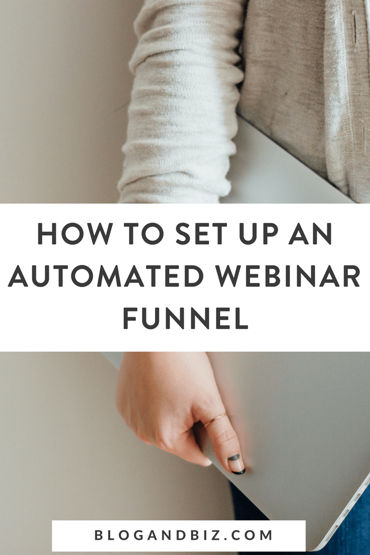 How to Do an Automated Webinar Funnel! Learn how to set up an automated webinar and an automated webinar funnel using great blog tools! Sell your course or product with an automated webinar! Click to learn all about it! #blogging, #blog, #blogandbiz, #blogtips, #webinars, #webinar, #webinartips