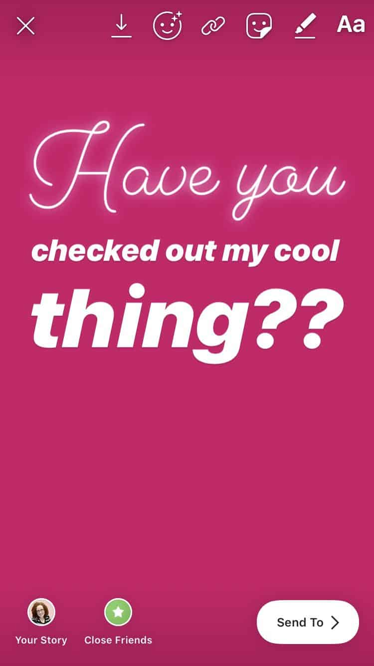Using different fonts in Instagram Stories